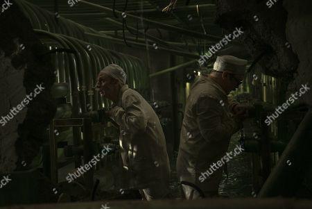 Robert Emms as Leonid Toptunov and Sam Troughton as Alexandr Akimov