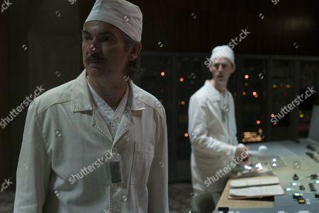 Paul Ritter as Anatoly Dyatlov and Robert Emms as Leonid Toptunov