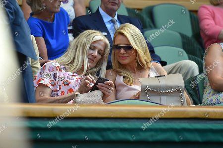 Joely Richardson And Tess Daly On Centre Court. The Championships Tennis Wimbledon 2018. Dudi Sela (isr) V Rafael Nadal (esp)03/7/18.