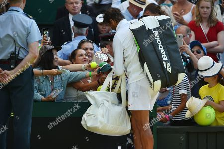 Rafael Nadal Wins In Straight Sets. The Championships Tennis Wimbledon 2018. Dudi Sela (isr) V Rafael Nadal (esp)03/7/18.
