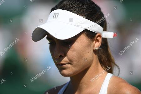 Gabriella Taylor . Wimbledon Tennis Day 2. 03/07/18 Gabriella Taylor (gbr) V Eugenie Bouchard (can) Gabriella Taylor In Action.