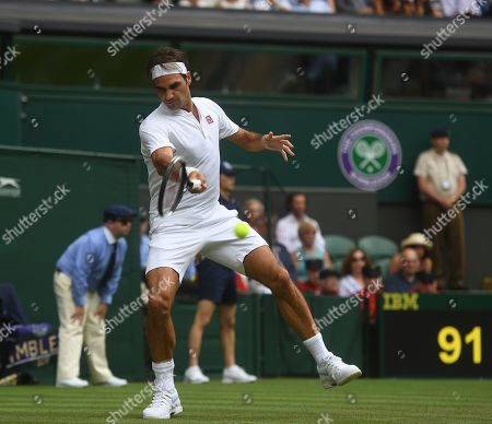 Roger Federer . Wimbledon Tennis Day 3. 04/07/18 Roger Federer (sui) V Lukas Lacko (svk) Roger Federer In Action.