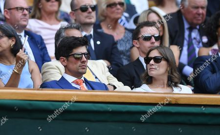 Wimbledon Tennis Day 4. 05/07/18 Mikhail Kukushkin (kaz) V Rafael Nadal (esp) Plaster Cook And Alice Cook In Royal Box.