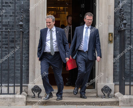 Stock Picture of Greg Clark Business And Damien Hinds Education. Cabinet Meeting 10th July 2018. Downing Street.