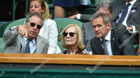 Alexander Armstrong In Royal Box With David Armstrong-jones 2nd Earl Of Snowdon (viscount Linley) And The Duchess Of Kent. The Championships Tennis Wimbledon 2018 Men's Semi-final On Centre Court Kevin Anderson (rsa) V John Isner (usa)3/7/18 Day 11.
