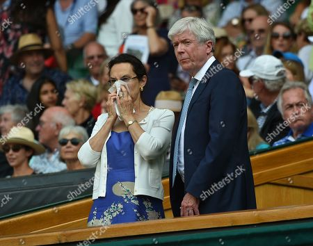 Sir Tony Hall In The Royal Box. The Championships Tennis Wimbledon 2018 Women Semi-final On Centre Court Julia Goerges (ger) V Serena Williams (usa)12/7/18 Day 10.