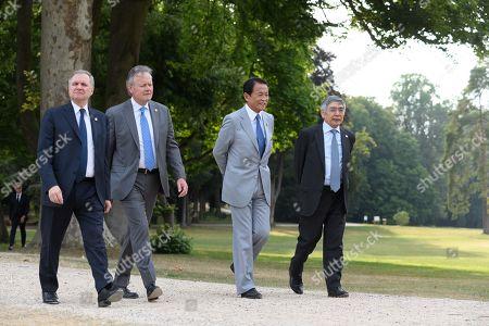 Ignazio Visco (Governor Bank of Italy), Stephen Poloz (Governor Bank of Canada, Taro Aso (Minister of Finance, Japan) and Haruhiko Kuroda (Governor bank of Japan).