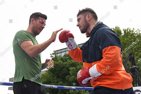 Dave Allen during a Public Workout at Potters Fields Park on 17th July 2019