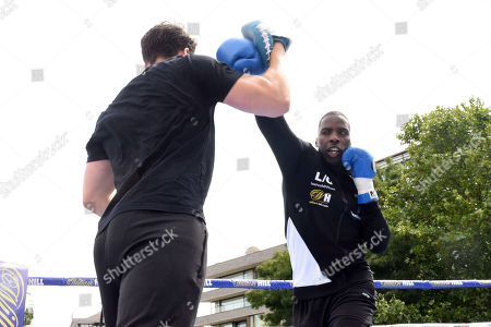 Lawrence Okolie during a Public Workout at Potters Fields Park on 17th July 2019