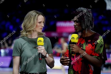 Stock Picture of BBC Sport presenters Sara Bayman and Ama Agbeze