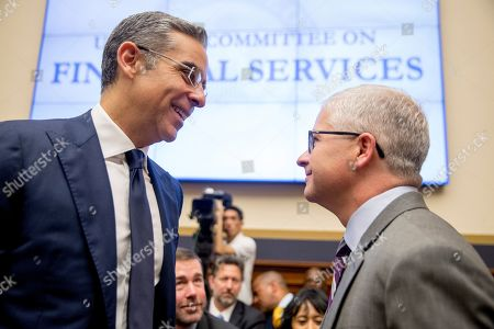 David Marcus, Patrick McHenry. David Marcus, CEO of Facebook's Calibra digital wallet service, left, and Ranking Member Rep. Patrick McHenry, R-N.C., right, speak before a House Financial Services Committee hearing on Facebook's proposed cryptocurrency on Capitol Hill in Washington