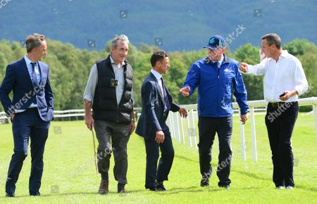 Killarney walking the track before racing at Killarney (L-R) Philip O'Brien, Con O'Mahony, Frankie Dettori, Kieran Murphy & Pat Healy.