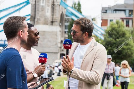 Andy Clarke, Spencer Fearon and Eddie Hearn
