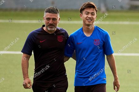 Editorial picture of Hiroki Abe attends training session in Barcelona, Spain - 17 Jul 2019