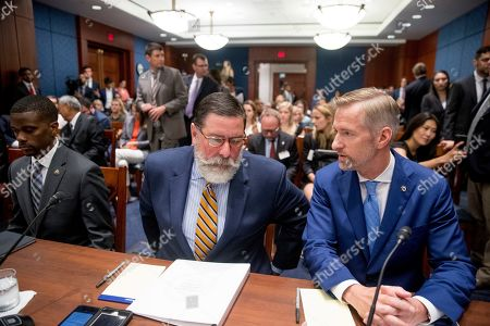 From left, St. Paul Mayor Melvin Carter, Pittsburgh Mayor Bill Peduto, and Portland Mayor Ted Wheeler, appear before a Senate Democrats' Special Committee on the Climate Crisis on Capitol Hill in Washington