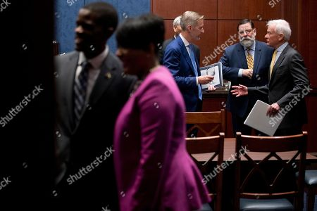 From left, St. Paul Mayor Melvin Carter, Atlanta Mayor Keisha Lance Bottoms, Portland Mayor Ted Wheeler, Pittsburgh Mayor Bill Peduto, and Honolulu Mayor Kirk Caldwell, speak before a Senate Democrats' Special Committee on the Climate Crisis on Capitol Hill in Washington