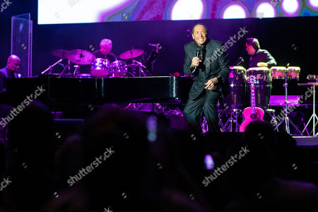Paul Anka performs during his concert at the Papp Laszlo Sports Arena in Budapest, Hungary, 17 July 2019.