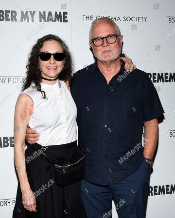 """Stock Picture of Bebe Neuwirth, Chris Calkins. Actress Bebe Neuwirth, left, and husband Chris Calkins attend a special screening of """"David Crosby: Remember My Name"""", hosted by Sony Pictures Classics and The Cinema Society, at The Roxy Cinema, in New York"""