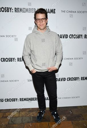 """Stock Photo of Jake Lacy attends a special screening of """"David Crosby: Remember My Name"""", hosted by Sony Pictures Classics and The Cinema Society, at The Roxy Cinema, in New York"""