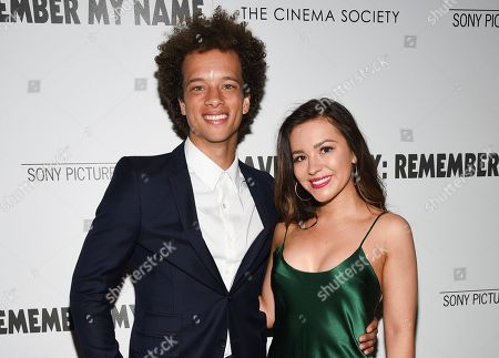 "Damon J. Gillespie, Grace Aki. Damon Gillespie and Grace Aki attend a special screening of ""David Crosby: Remember My Name"", hosted by Sony Pictures Classics and The Cinema Society, at The Roxy Cinema, in New York"