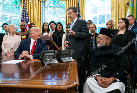 Editorial image of President Trump meets with survivors of religious perception at the White House, Washington, USA - 17 Jul 2019