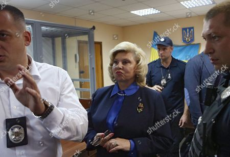 Plenipotentiary on Human Rights in the Russian Federation Tatyana Moskalkova during a court hearing of the case involving the head of the RIA Novosti Ukraine Kirill Vyshinsky