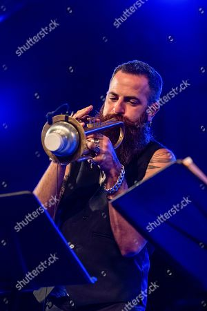Israeli trumpet player Avishai Cohen of Chris Potter quintet performs on stage during the band concert at Vitoria's Jazz Festival in Vitoria, Spain, 17 July 2019.