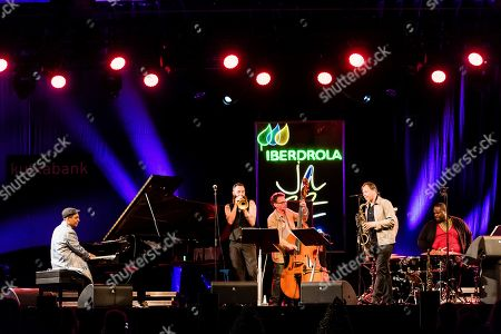 The Chris Potter quintet performs on stage during the band concert at Vitoria's Jazz Festival in Vitoria, Spain, 17 July 2019.