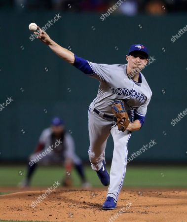 Toronto Blue Jays starting pitcher Aaron Sanchez delivers during the first inning of a baseball game agains the Boston Red Sox at Fenway Park in Boston