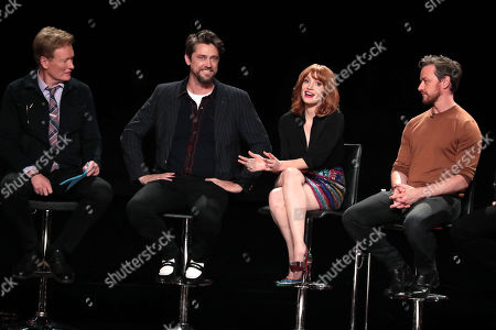 Stock Picture of Conan O'Brien, Andy Muschietti, Director, Jessica Chastain, James McAvoy