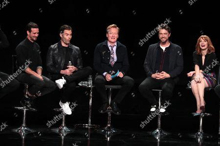 Stock Image of James Ransone, Bill Hader, Conan O'Brien, Andy Muschietti, Director, Jessica Chastain