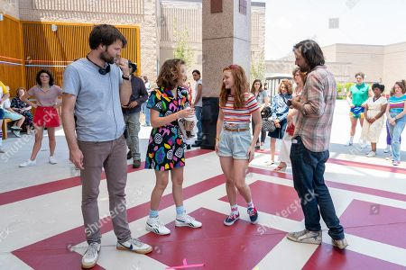 Ross Duffer Creator, Millie Bobby Brown as Eleven, Sadie Sink as Max Mayfield and Matt Duffer Creator
