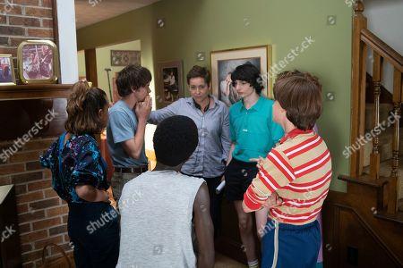 Millie Bobby Brown as Eleven, Charlie Heaton as Jonathan Byers, Caleb McLaughlin as Lucas Sinclair, Uta Briesewitz Director, Finn Wolfhard as Mike Wheeler and Noah Schnapp as Will Byers