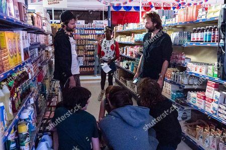 Ross Duffer Creator, Caleb McLaughlin as Lucas Sinclair and Matt Duffer Creator