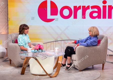 Lorraine Kelly and Amanda Barrie