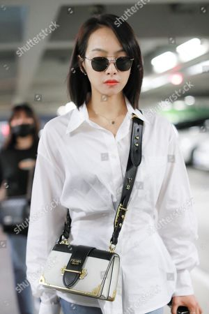 Editorial picture of Victoria Song at Beijing airport, China - 16 Jul 2019