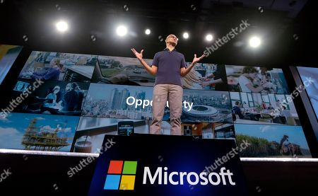 Microsoft CEO Satya Nadella delivers the keynote address at Build, the company's annual conference for software developers in Seattle. Microsoft Corp. reports earnings