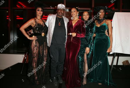 Stock Photo of Golnesa Gharachedaghi, Rhona Bennett, Terry Ellis, Cindy Herron, En Vogue, Bobby Brown