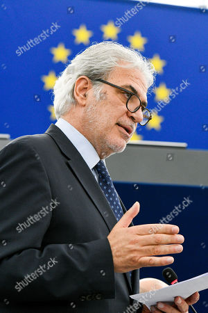 Christos Stylianides during a plenary session at the European Parliament in Strasbourg - Humanitarian assistance in the Mediterranean