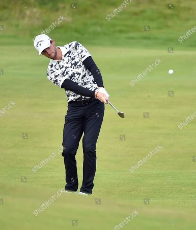 Thomas Pieters plays a shot on the 2nd