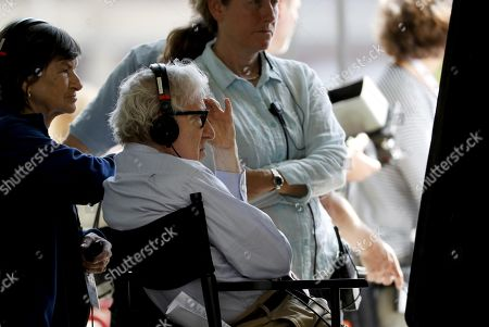 Woody Allen directs at the set of his film shooting in San Sebastian, Spain, 18 July 2019. Allen shoots his latest work from 10 July to 23 August in San Sebastian.