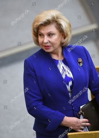 Russian Commissioner for Human Rights Tatyana Moskalkova during the meeting.