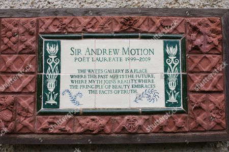 Stock Image of Plaque in memory of Andrew Motion, Poet Laureate