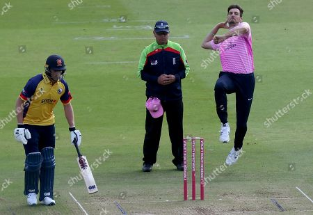 Steven Finn of Middlesex in bowling action during Middlesex vs Essex Eagles, Vitality Blast T20 Cricket at Lord's Cricket Ground on 18th July 2019