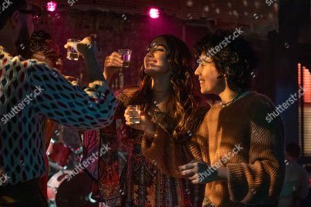 Tonatiuh Elizarraraz as Marcos, Melissa Barrera as Lyn/Sister and Roberta Colindrez as Nico