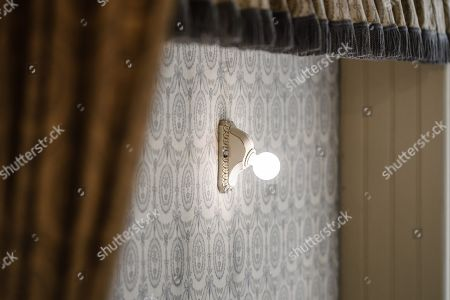 A view of a lamp in the cabin of Duchess Cecilie of Mecklenburg-Schwerin at Cecilienhof Palace in Potsdam, Germany, 18 July 2019. Media reports that descendants of former German emperor Kaiser Wilhelm II from the House of Hohenzollern, led by Georg Friedrich Ferdinand Prince of Prussia, are claiming the right of residence for Cecilienhof Palace. Built from 1913 to 1917, the palace was home to Crown Prince William, the son of Kaiser Wilhelm II. Later it hosted the Potsdam Conference after the end of World War II. In July and August 1945, Winston Churchill, Harry S. Truman and Joseph Stalin literally reorganized the world from there. The claims of the House of Hohenzollern might end up in court, whereas the German Foundation Prussian Palaces and Gardens, which is running the museum Cecilienhof is planning a special exhibition for next year's 75th anniversary of the Potsdam Conference.