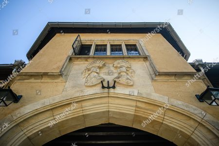 Stock Picture of A view of an entrance at Cecilienhof Palace in Potsdam, Germany, 18 July 2019. Media reports that descendants of former German emperor Kaiser Wilhelm II from the House of Hohenzollern, led by Georg Friedrich Ferdinand Prince of Prussia, are claiming the right of residence for Cecilienhof Palace. Built from 1913 to 1917, the palace was home to Crown Prince William, the son of Kaiser Wilhelm II. Later it hosted the Potsdam Conference after the end of World War II. In July and August 1945, Winston Churchill, Harry S. Truman and Joseph Stalin literally reorganized the world from there. The claims of the House of Hohenzollern might end up in court, whereas the German Foundation Prussian Palaces and Gardens, which is running the museum Cecilienhof is planning a special exhibition for next year's 75th anniversary of the Potsdam Conference.