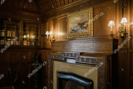 A view of a fireplace inside Cecilienhof Palace in Potsdam, Germany, 18 July 2019. Media reports that descendants of former German emperor Kaiser Wilhelm II from the House of Hohenzollern, led by Georg Friedrich Ferdinand Prince of Prussia, are claiming the right of residence for Cecilienhof Palace. Built from 1913 to 1917, the palace was home to Crown Prince William, the son of Kaiser Wilhelm II. Later it hosted the Potsdam Conference after the end of World War II. In July and August 1945, Winston Churchill, Harry S. Truman and Joseph Stalin literally reorganized the world from there. The claims of the House of Hohenzollern might end up in court, whereas the German Foundation Prussian Palaces and Gardens, which is running the museum Cecilienhof is planning a special exhibition for next year's 75th anniversary of the Potsdam Conference.