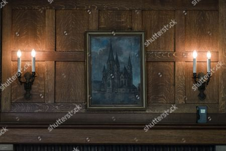 A view of a painting inside Cecilienhof Palace in Potsdam, Germany, 18 July 2019. Media reports that descendants of former German emperor Kaiser Wilhelm II from the House of Hohenzollern, led by Georg Friedrich Ferdinand Prince of Prussia, are claiming the right of residence for Cecilienhof Palace. Built from 1913 to 1917, the palace was home to Crown Prince William, the son of Kaiser Wilhelm II. Later it hosted the Potsdam Conference after the end of World War II. In July and August 1945, Winston Churchill, Harry S. Truman and Joseph Stalin literally reorganized the world from there. The claims of the House of Hohenzollern might end up in court, whereas the German Foundation Prussian Palaces and Gardens, which is running the museum Cecilienhof is planning a special exhibition for next year's 75th anniversary of the Potsdam Conference.