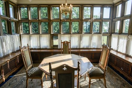 A view inside Cecilienhof Palace in Potsdam, Germany, 18 July 2019. Media reports that descendants of former German emperor Kaiser Wilhelm II from the House of Hohenzollern, led by Georg Friedrich Ferdinand Prince of Prussia, are claiming the right of residence for Cecilienhof Palace. Built from 1913 to 1917, the palace was home to Crown Prince William, the son of Kaiser Wilhelm II. Later it hosted the Potsdam Conference after the end of World War II. In July and August 1945, Winston Churchill, Harry S. Truman and Joseph Stalin literally reorganized the world from there. The claims of the House of Hohenzollern might end up in court, whereas the German Foundation Prussian Palaces and Gardens, which is running the museum Cecilienhof is planning a special exhibition for next year's 75th anniversary of the Potsdam Conference.
